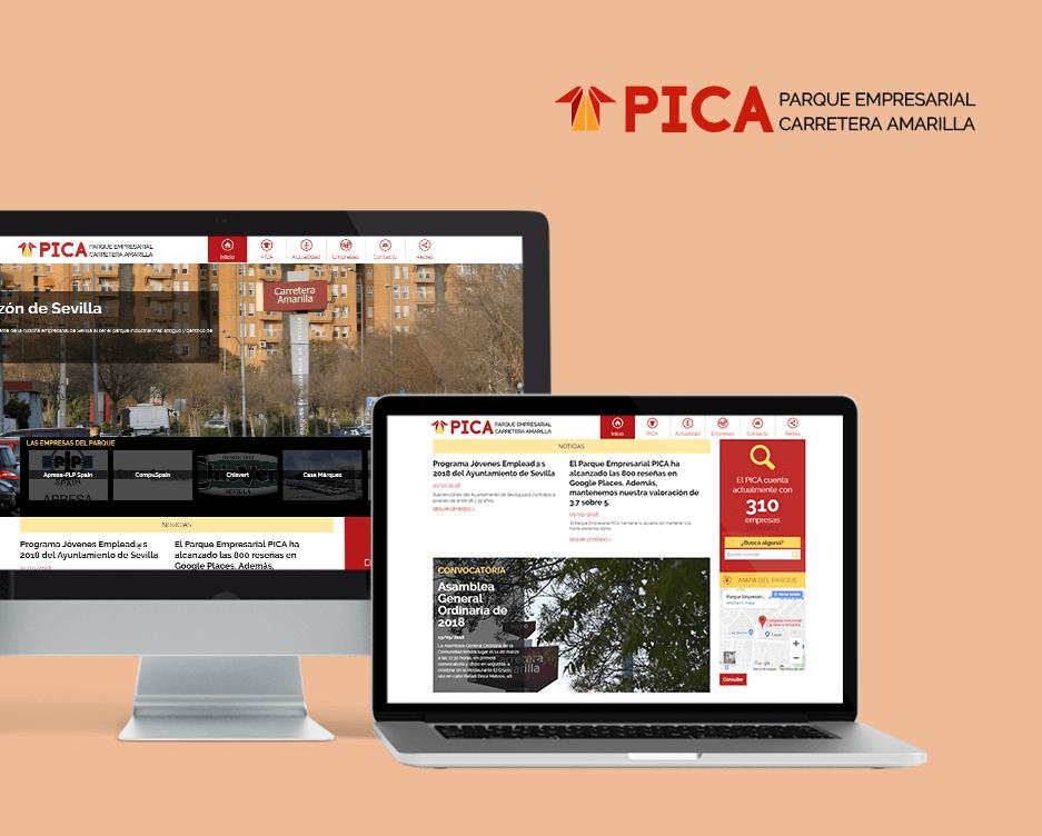 web Parque Empresarial PICA