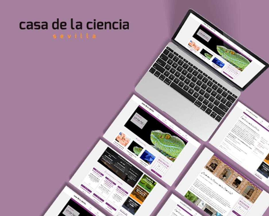 web Casa de la Ciencia