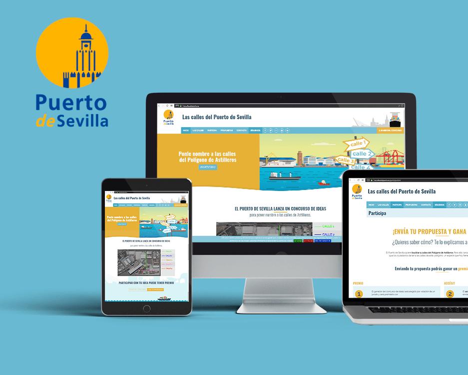 Web del Puerto de Sevilla