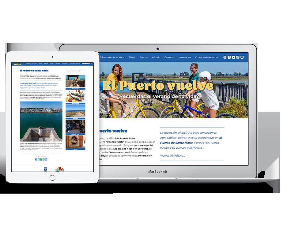 Web de El Puerto Vuelve